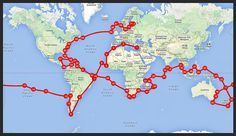 sailing world route | Sail For Good Around The World Route