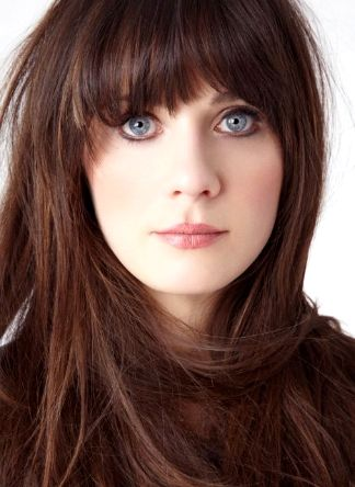Zoey Deschanel blue blue eyes!
