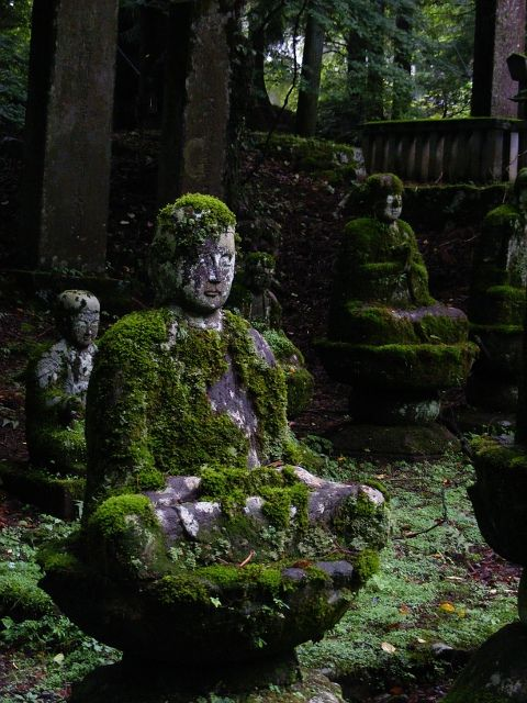moss statues