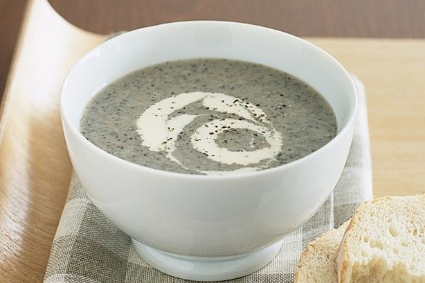Experiment with different types of mushrooms in this hearty winter soup.