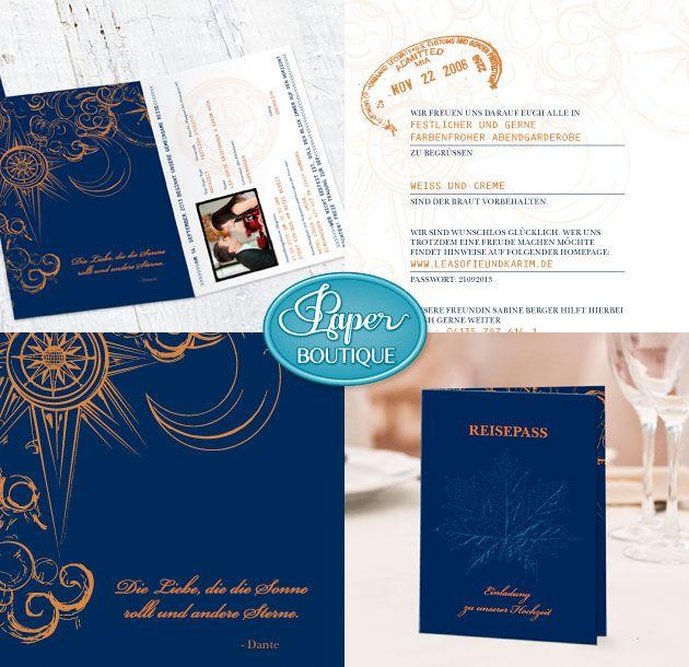 Hochzeit, Hochzeitskarte, Einladung, Reisepass