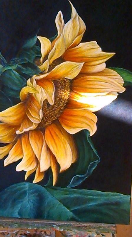 Girassol- óleo sobre tela