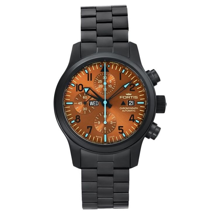 Fortis Aeromaster Blue Horizon Limited Edition Men's Automatic Chronograph Watch FREE Expedited Shipping