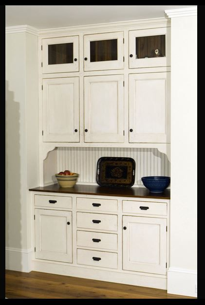 Kitchen Cabinet Built-Ins Vintage/Early American/Primitive