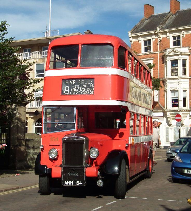 Vintage bus Northampton Town Centre England