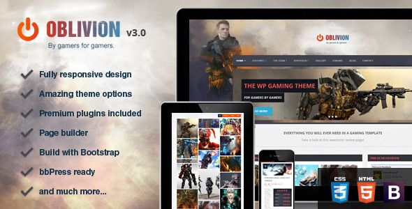 Oblivion – The Ultimate Multi-Purpose Gaming Theme – Technology WordPress