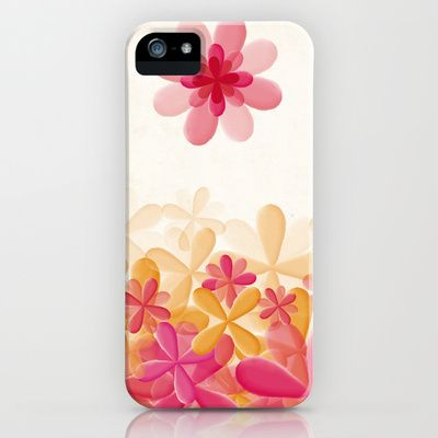 Pattern Pink Flowers iPhone & iPod Case by Zuriñe Aguirre Illustration - $35.00