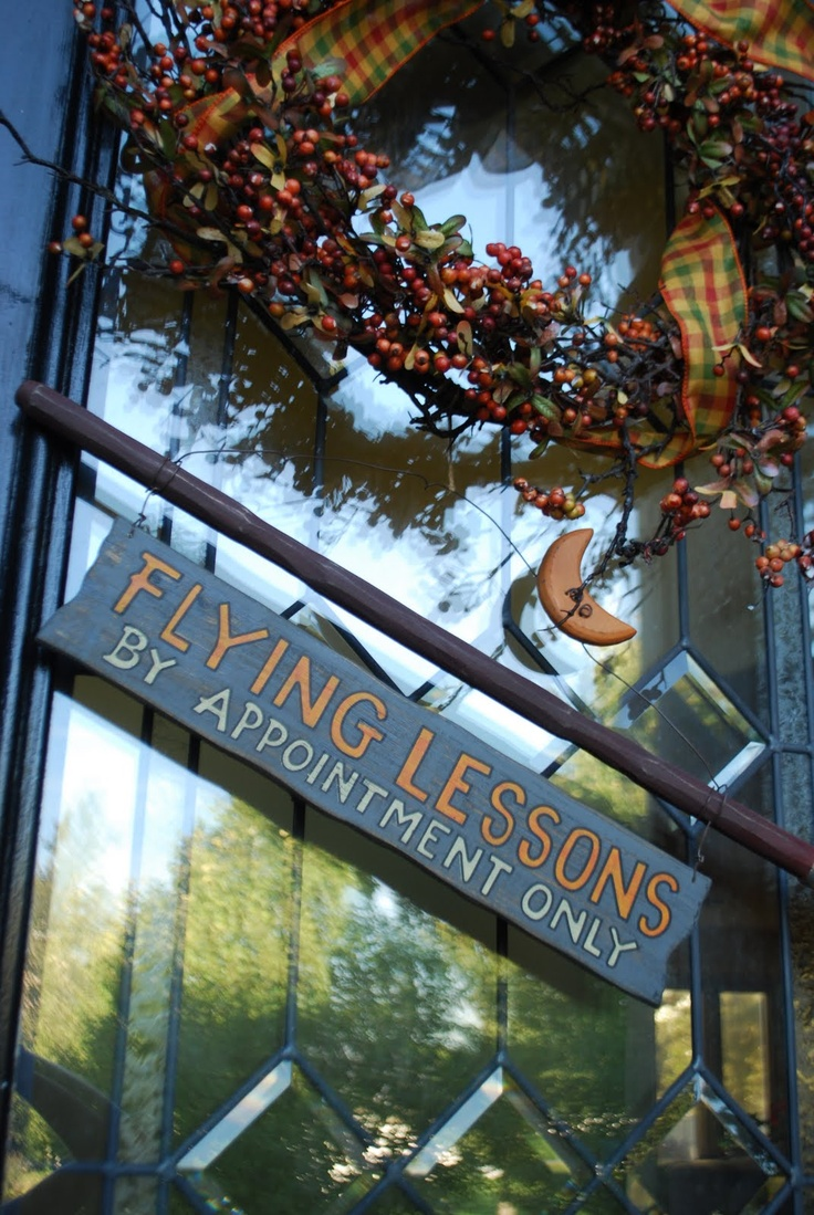 broom sign: Holiday, Twists, Broom Sign, Fall Wreaths, By, Chateau, Halloween Wreaths, Flying Lessons, Halloween Signs