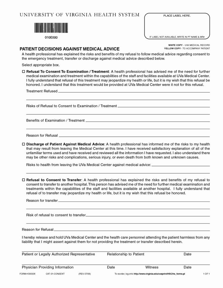 30 Hospital Discharge form Template in 2020 Doctors note