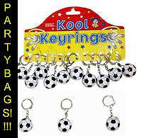 FOOTBALL KEYRINGS X 10 **PARTY BAGS**PRIZES**REWARDS**FUND RAISING**PARTY