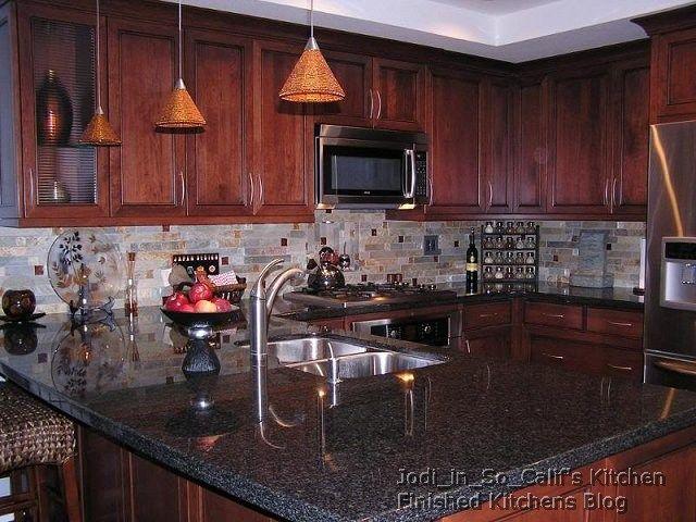 Kitchen Backsplash Ideas With Cherry Cabinets 69 best kitchen images on pinterest | kitchen ideas, backsplash
