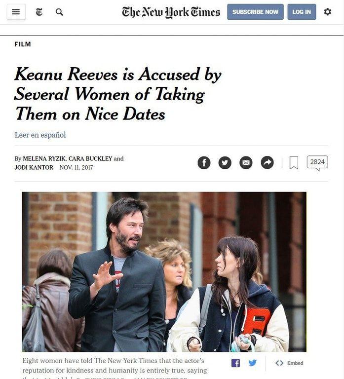 Keanu's Hollywood Scandal : funny