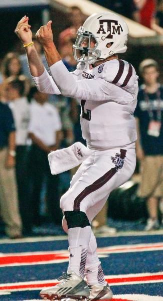 Texas A&M quarterback Johnny Manziel