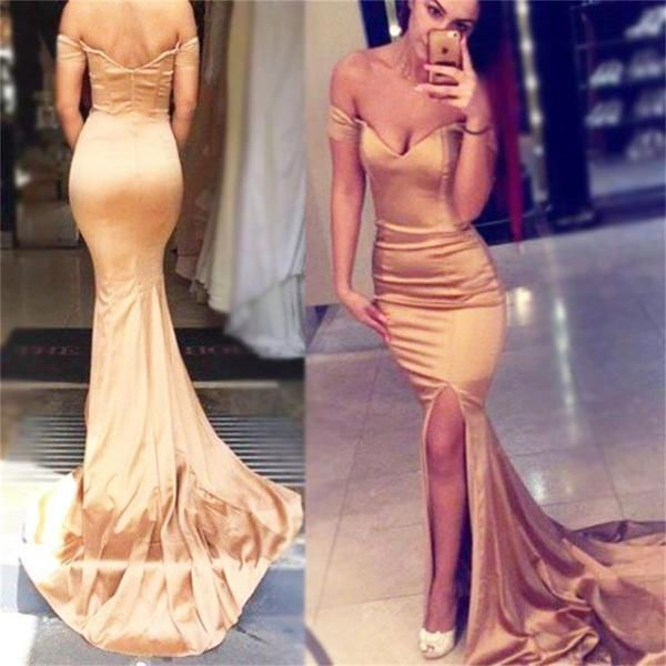 Modern Cheap Fashion Elegant Off Shoulder Mermaid Prom Dresses, Evening Dress, PD0417