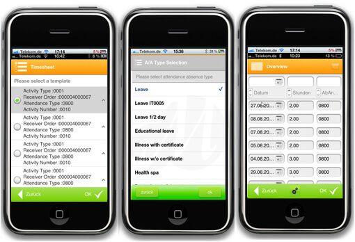 Ejemplos de aplicaciones móviles para SAP construidas con movelets.