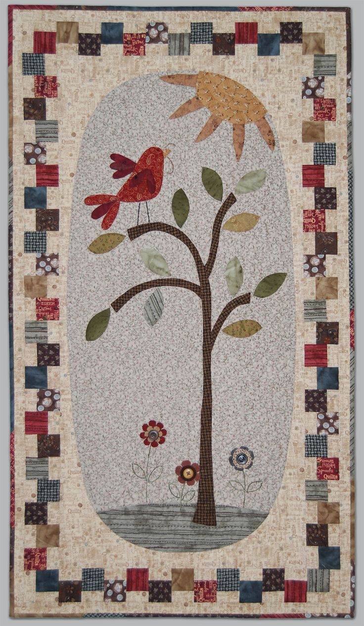 Patchwork Applique - Early-bird Wallhanging