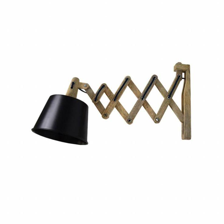 Harmonica is een mooie en speelse wandlamp. De lamp heeft een metalen kap en een uittrekbare arm om het licht op de juiste plek in de ruimte te krijgen. Deze ar