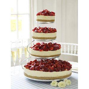 Cheesecake wedding cake? :  wedding English Cheesecake Company Wedding Cake Medium New