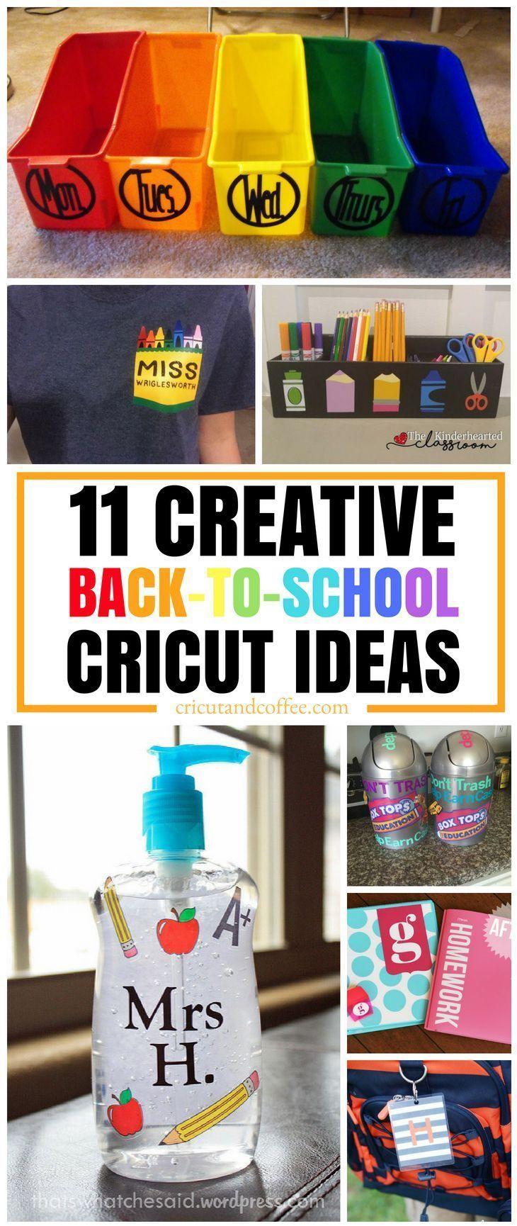 You Ll Love All Of These Cricut Ideas For The School Year Cricut