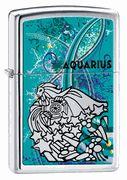 Zippo Aquarius High Polish Chrome Lighter  #Zippo #Aquarius #zodiac #eLighters