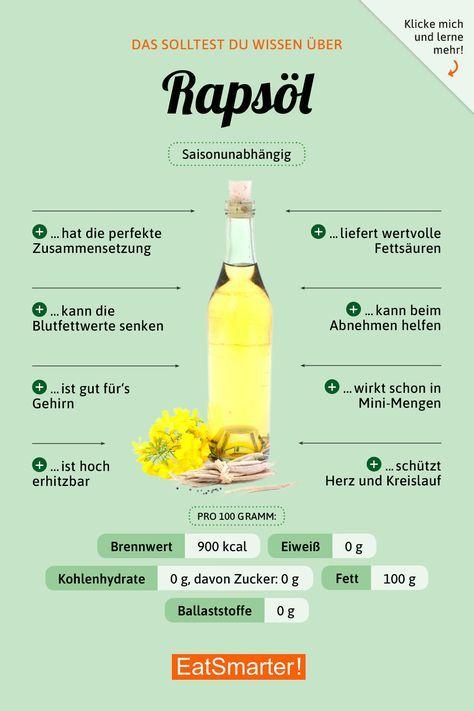 Healthy Recipes Das solltest du über Rapsöl wissen | eatsmarter.de #rapsöl #infografik #ernä...