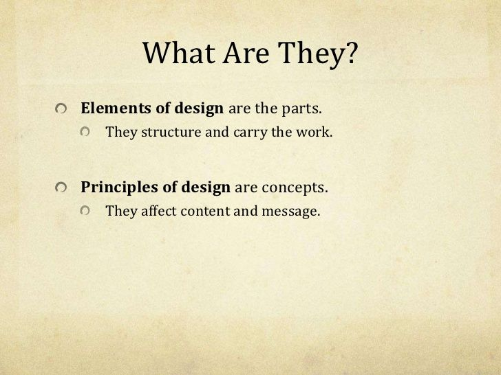 Elements And Principles Of Art And Design Powerpoint