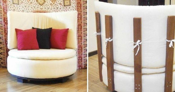 Cómo transformar un neumático en un sillón circular