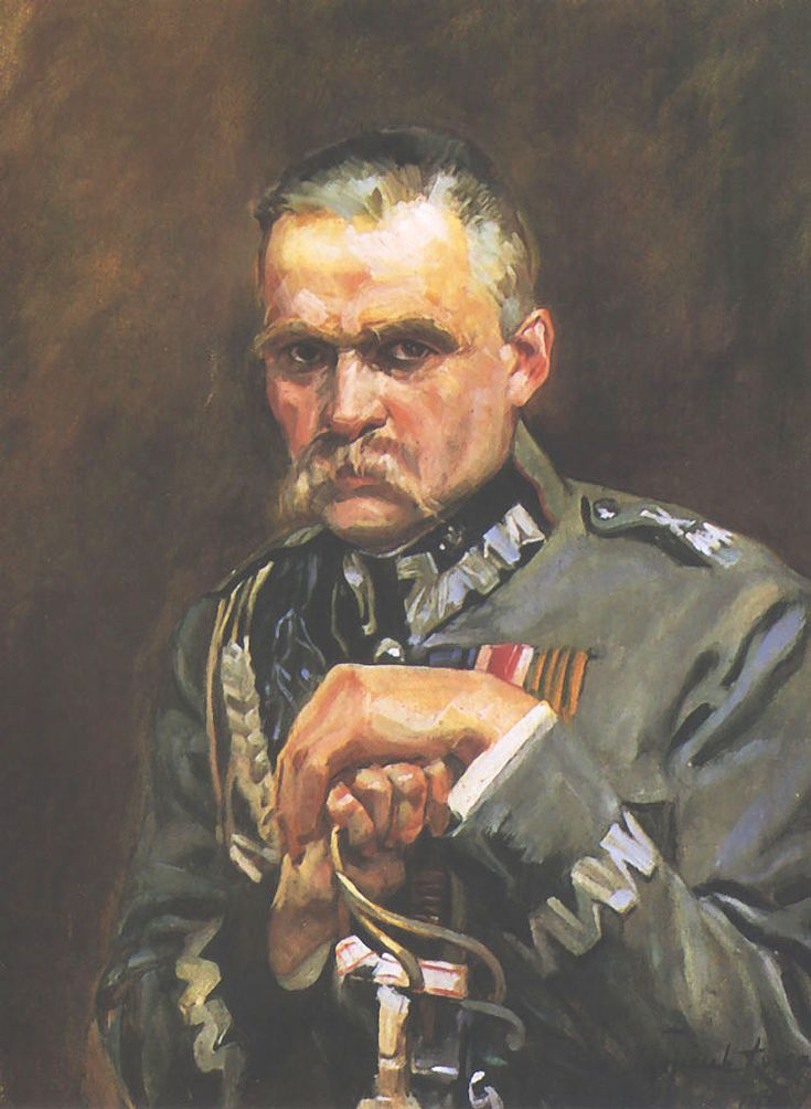 Portrait of Marshall Jozef Pilsudski - Wojciech Kossak