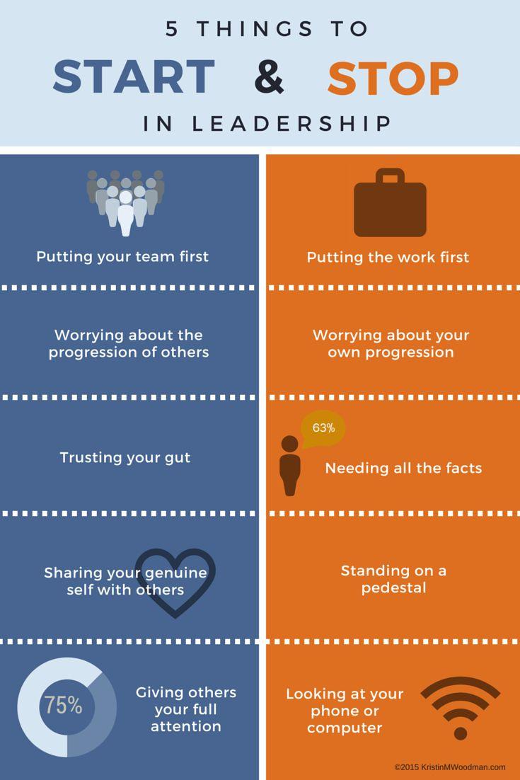 5 Things to Start & Stop in Leadership