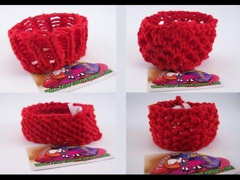 Cómo tejer con telar una cinta calentadora / diadema lazo turbante (Tutorial DIY) - YouTube
