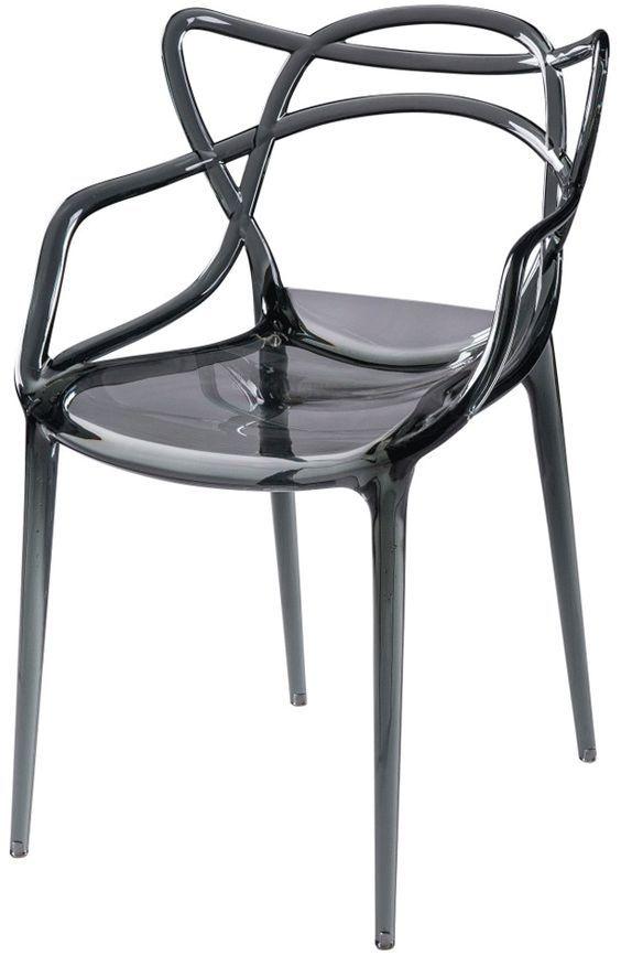 Cadeira Solna Allegra em Policarbonato criada pelo designer Philippe Starck, design leve e elegante! #bellabrasildecor