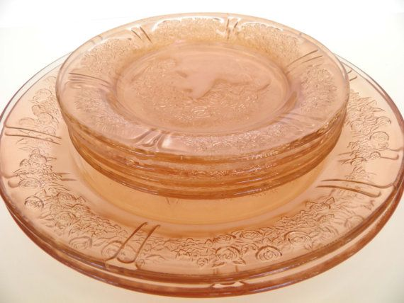 1930 39 s federal pink depression glass sharon cabbage rose for Cuisine 1930