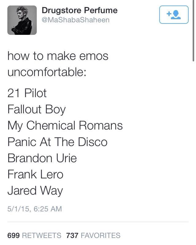 I showed my friend this and she responded with How to make emos angry: they're already angry they're emo And i didn't know whether to laugh or defend myself