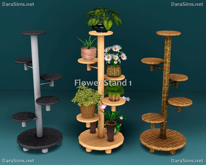 Flower Stands & Sills by Dara Sims - Sims 3 Downloads CC Caboodle