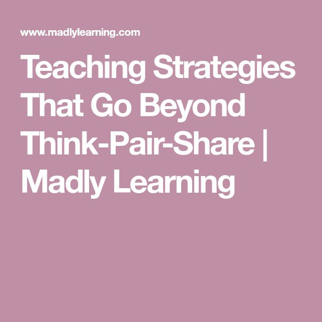 Teaching Strategies That Go Beyond Think-Pair-Share | Madly Learning  || Ideas, activities and revision resources for teaching GCSE English || For more ideas please visit my website: www.gcse-english.com ||