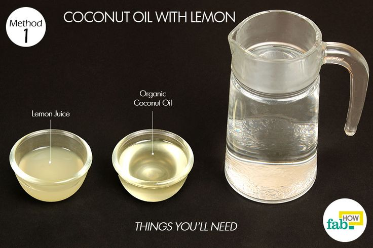 coconut oil and lemon things need