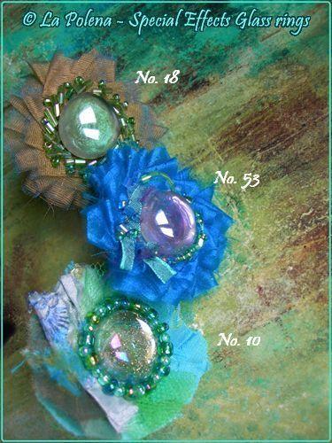 Anello da favola effetti speciali vetro anello n. 53 di LaPolena