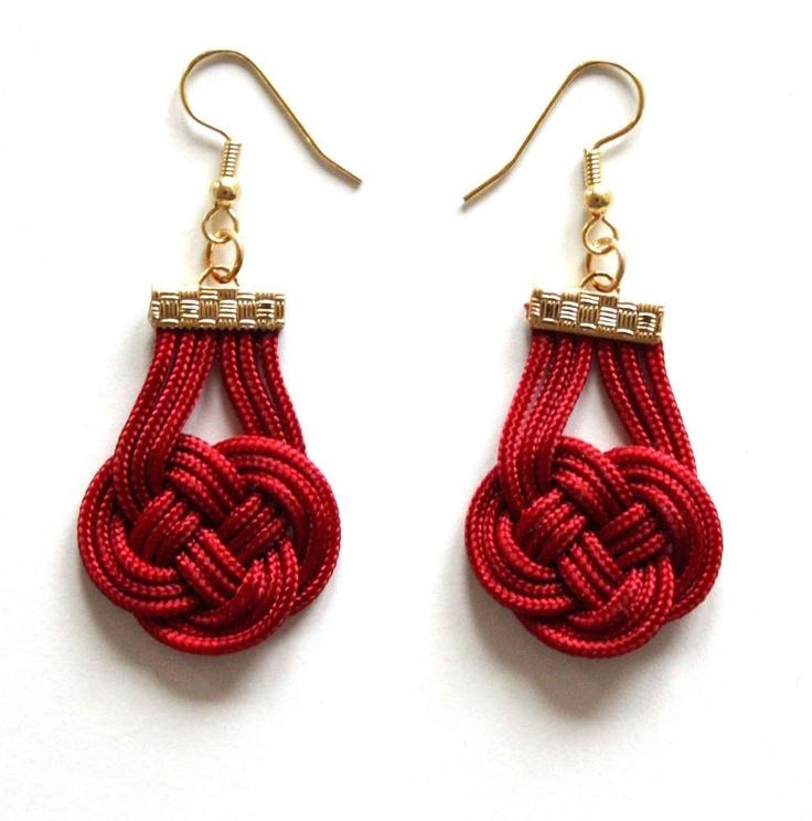 Fabric Knotted Earrings-25USD- do site muntedkowhai.bigcartel.com - Brincos com nó