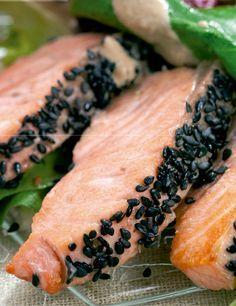 Salada de salmão e palmito