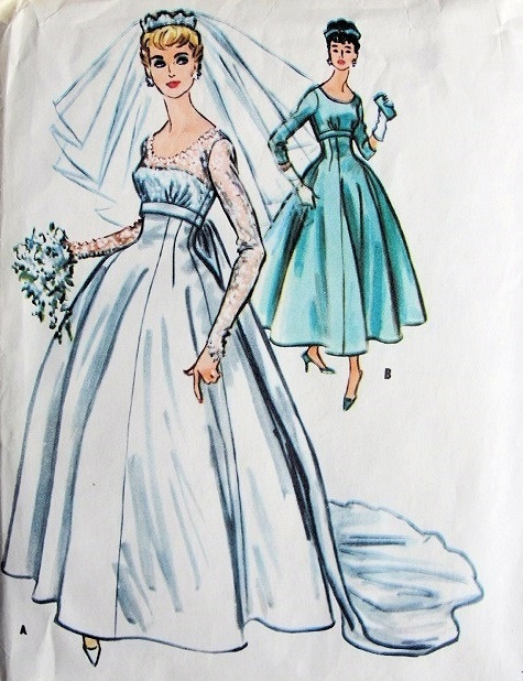Vintage Bridal Sewing Patterns Image collections - origami ...
