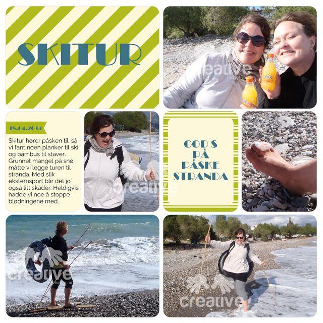H♥BBYSYSLER: Skitur/Påskebolle, project life app side