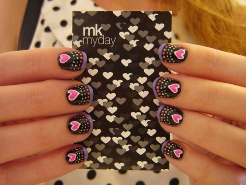 (via make my day: loveviernes)Heart Nails, Nails Nails, Nails Fashion, Nails Art, Nails Design, Pretty Nails, Nails Ideas, Valentine Nails, Hair Nails