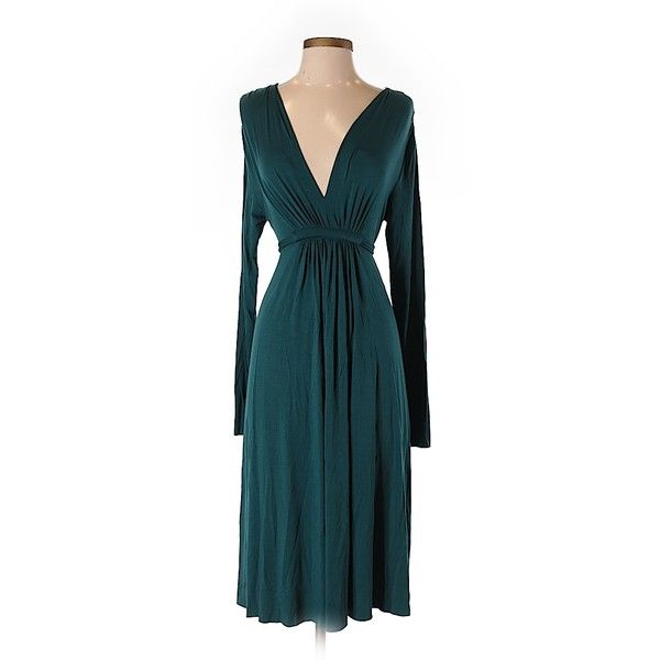 Rachel Pally Casual Dress ($65) ❤ liked on Polyvore featuring dresses, dark green, dark green dress, rachel pally, modal dress, blue dress and rachel pally dress