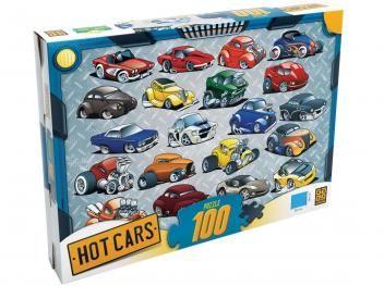 Quebra-Cabeça 100 Peças Hot Cars - Grow