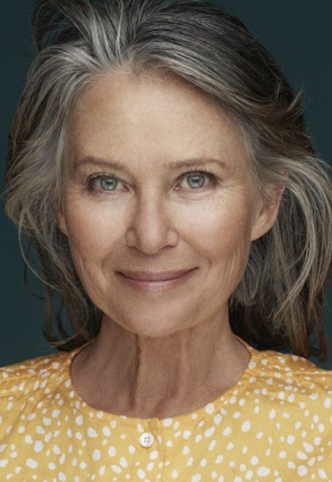 Beautiful models with grey hair showing the world that natural grey hair is beautiful and that age is just a number.
