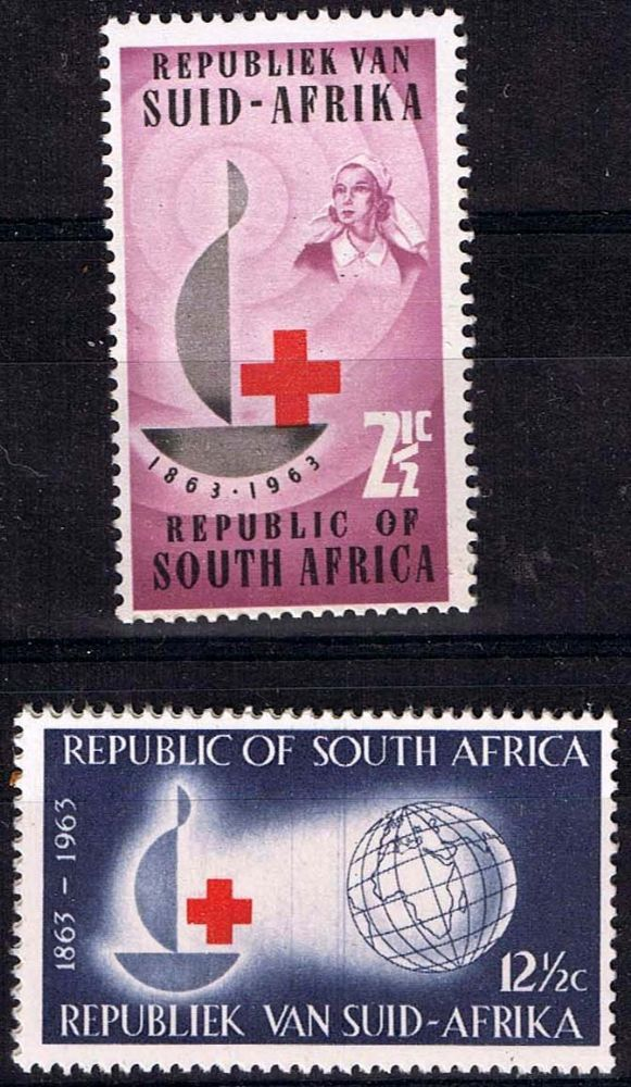 South Africa 1963 Red Cross Centenary Fine Mint SG 225 6 Scott 285 6 Other South Africa Stamps HERE