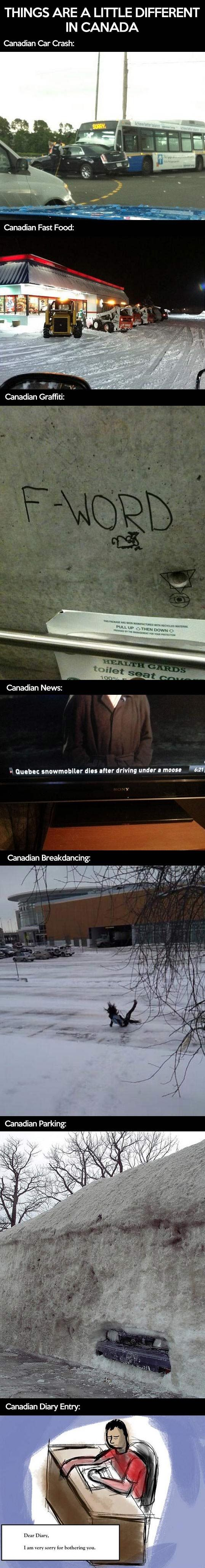 Things Are Different In Canada - this page is HILARIOUS