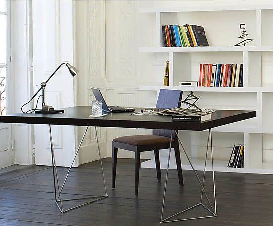 16 best office revamp images on pinterest desks office for Schreibtisch dunkelbraun