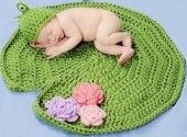Crochet Baby Blanket Spring Lily Pad Mat With Frog Hat Green Newborn Baby Boy Girl Photo Props 3-6 Months