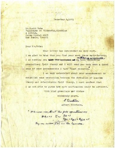アインシュタインが物理学者に宛てた手紙(AP)